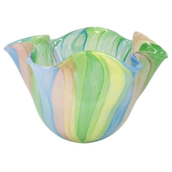 Vaso de Vidro Bowl Colorido 15 cm