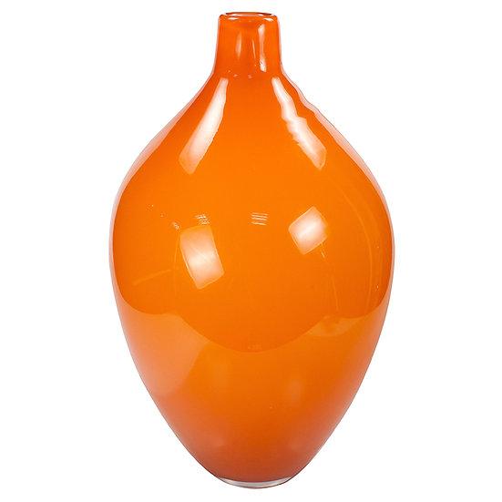 Vaso de vidro laranja 35 cm