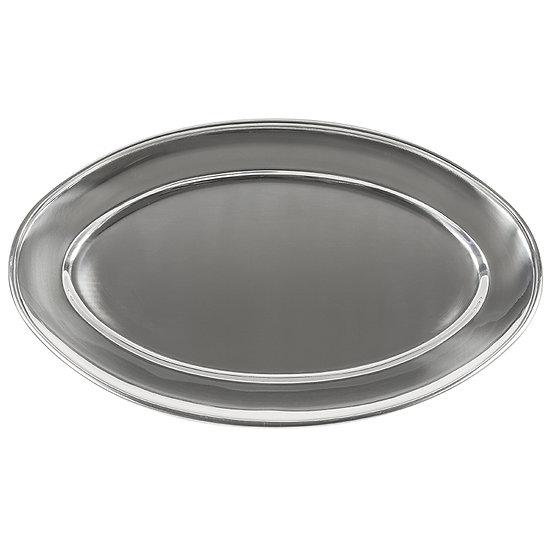 Bandeja oval em aço inox 35cm