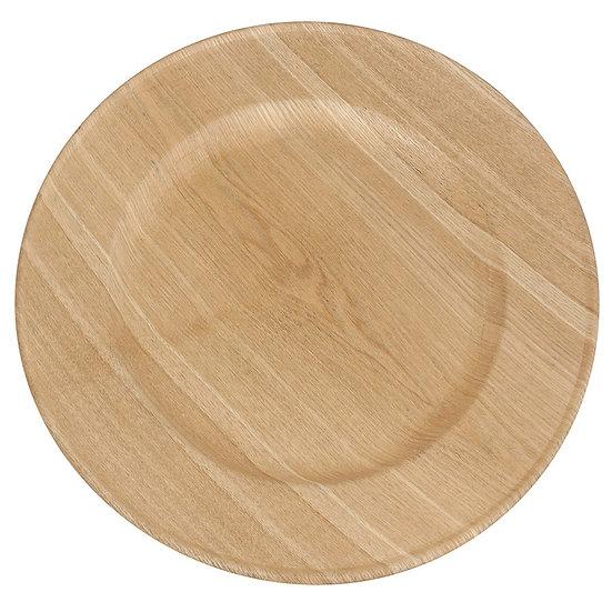Sousplat decorado em madeira 34 cm