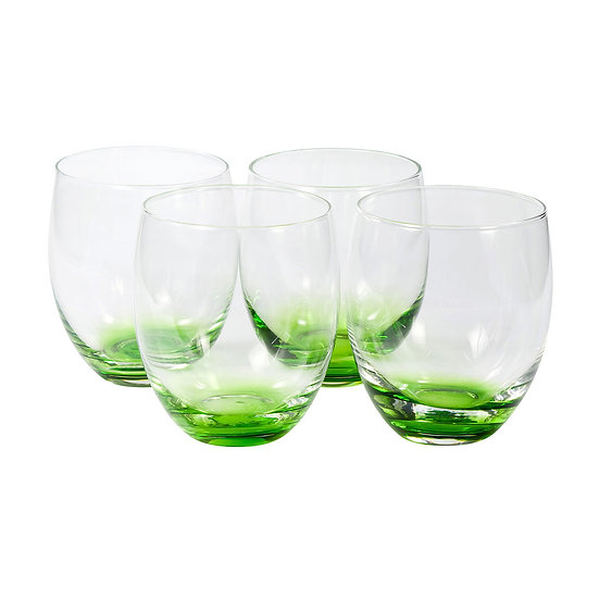 Jogo de 4 copos de vidro Ball (450ml) Dimensões (AxLxC): 10x8x8 cm Peso: 0,175kg