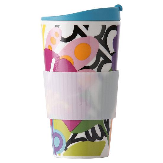 Copo Traveler Oasis de Porcelana com Silicone 470 ml