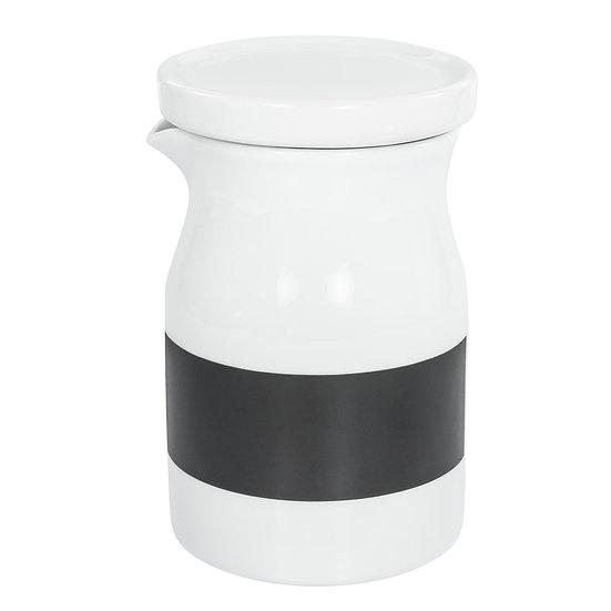 Garrafa de porcelana 500ml com tampa vedação em silicone