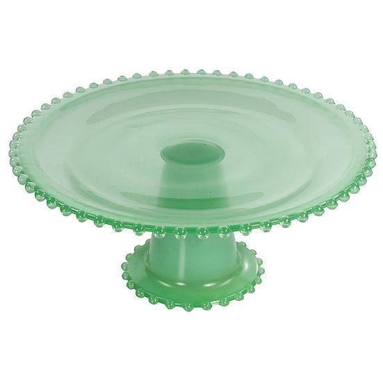Boleira de vidro verde 25cm