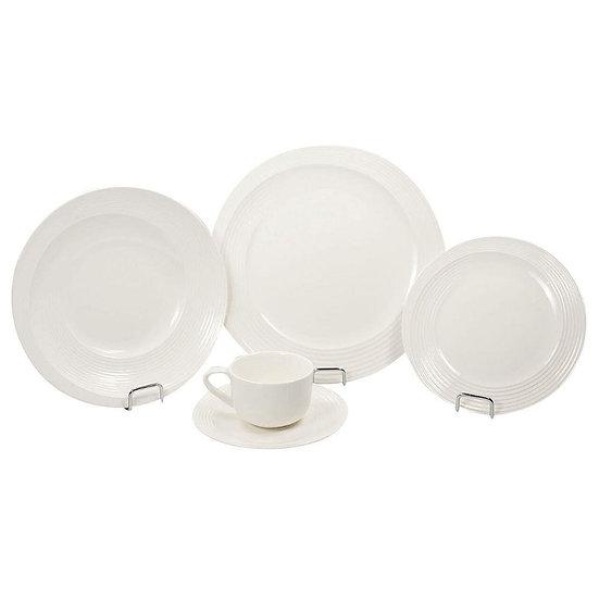 Aparelho de jantar de porcelana 20 peças branco