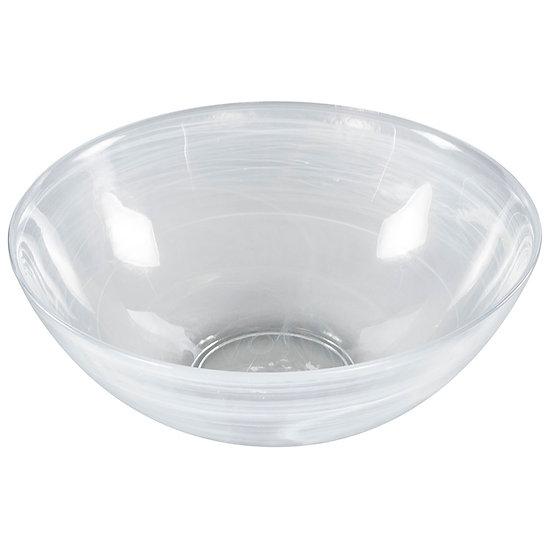 Saladeira/Bowl de vidro efeito nuvem 25,5cm