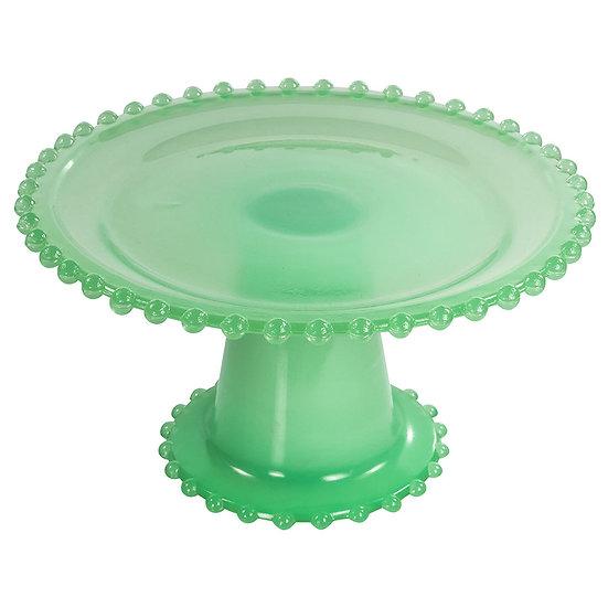 Boleira de vidro verde 20cm