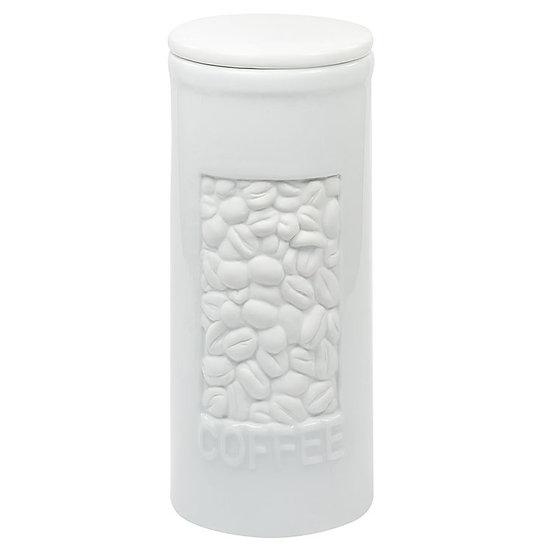 Pote de Porcelana Branco Café