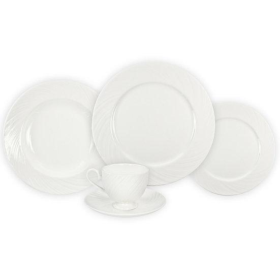 Aparelho de jantar de porcelana BONE CHINA 20 peças branco