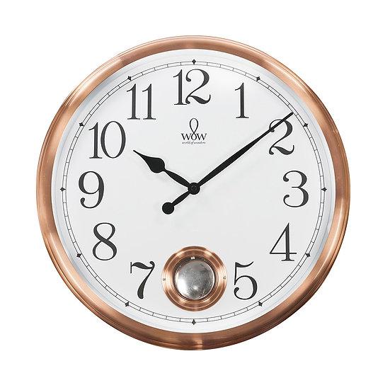 Relógio de parede cromado com Pêndulo