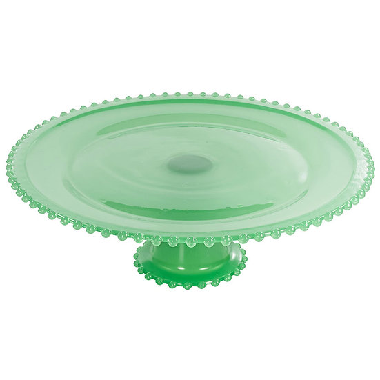Boleira de vidro verde 32cm