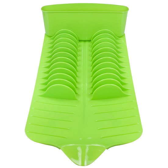 Escorredor de louças retangular plastico verde