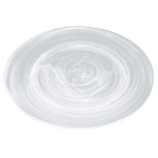Prato de vidro decorado efeito nuvem 20,5cm