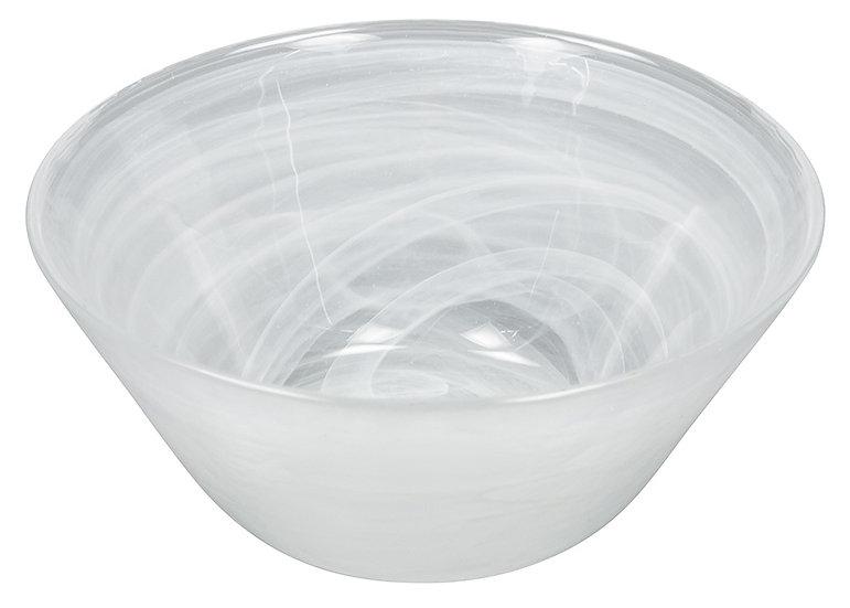 Saladeira/Bowl de vidro efeito nuvem 13.6cm