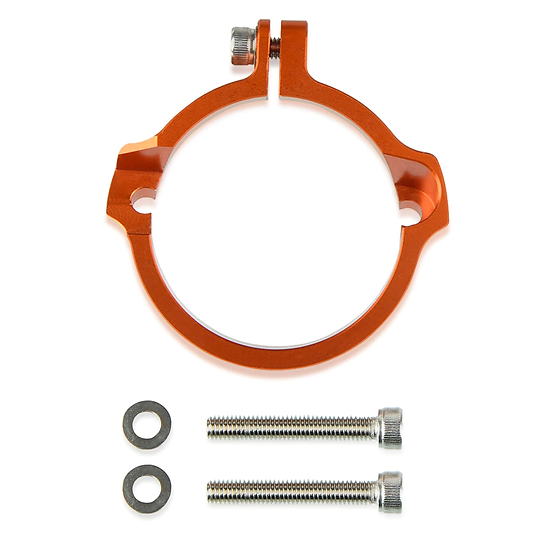 KTM XC SX XCW EXC TPI 250 300 17-21 ANODISED EXHAUST FLANGE GUARD PROTECTOR