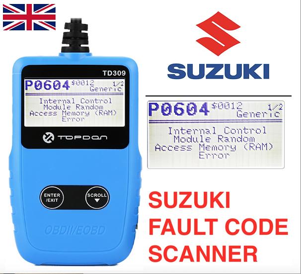 2017- Suzuki OBDII 6 Pin to OBD2 Diagnostic Fault code scannen