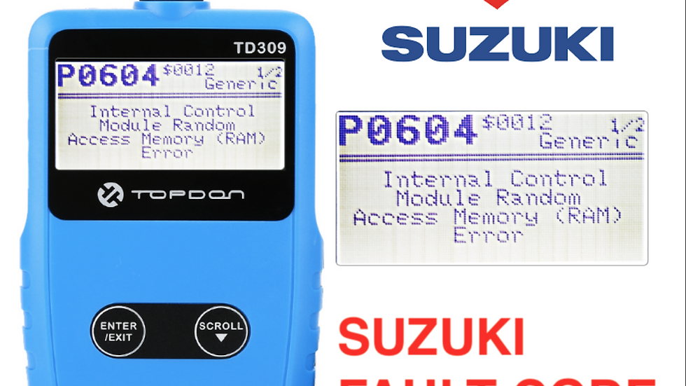 2017- Suzuki OBDII 6 Pin to OBD2 Diagnostic Fault code scannen