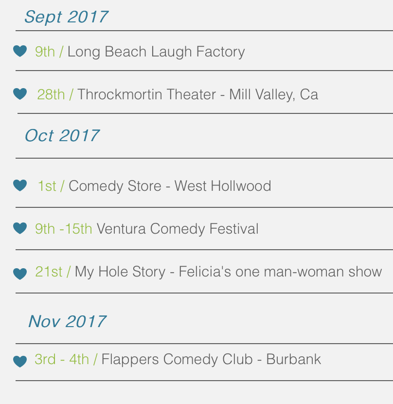 Upcoming Shows