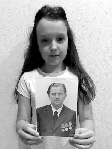 Полина Честнова с прадедушкой Осиповым Владимиром Михайловичем
