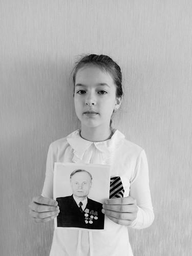 Михеева Анастасия с прадедушкой Киселевым Иваном Ивановичем