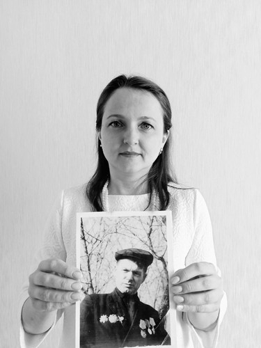 Михеева Татьяна с дедушкой Глумовым Федором Павловичем