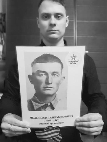 Кошелев Николай с прадедушкой Мыльниковым Павлом Федотовичем