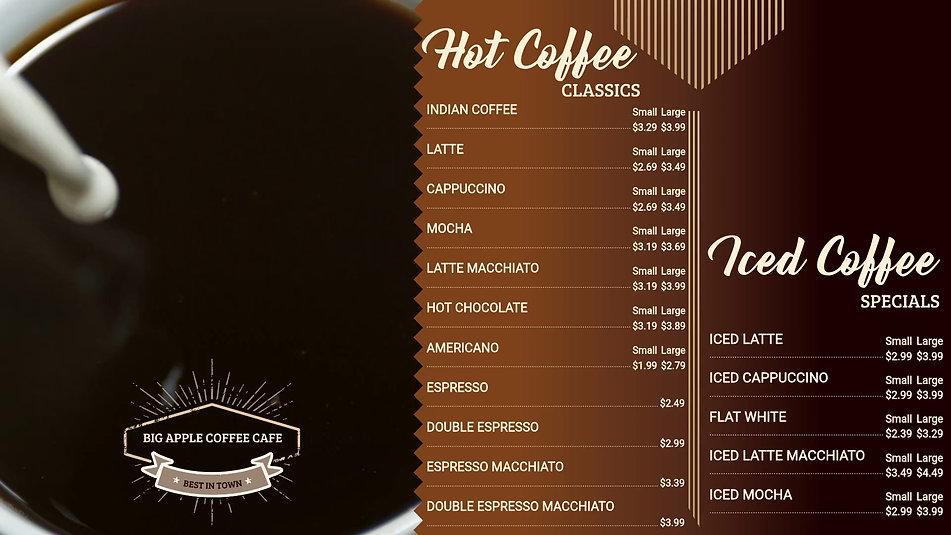 Copy of Coffee Video Menu Digital Displa