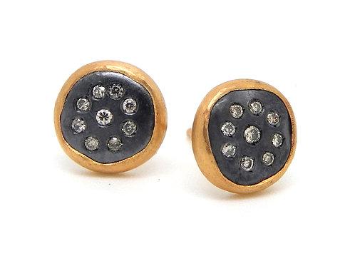 LIKA BEHAR Diamond Button Earrings PG22-E-108-GXCD-24