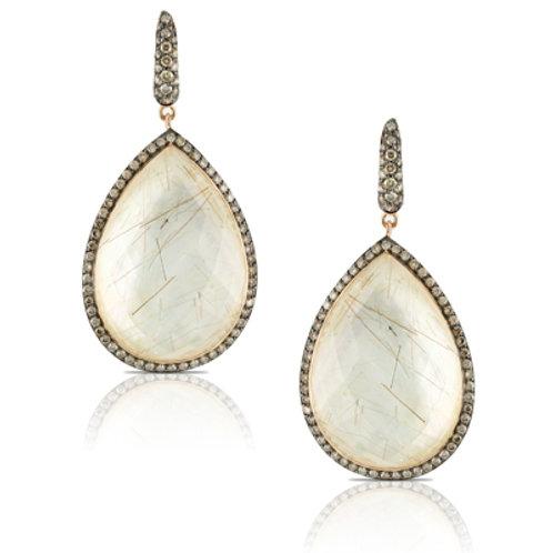 DOVES Angel Hair & Diamond Earrings