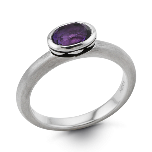 HERA Mystic Finish Sterling Silver COCKTAIL STAX Berry Martini Ring
