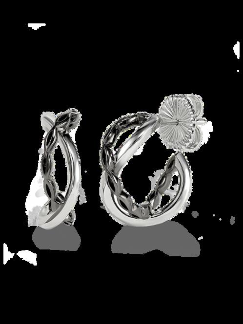 HERA Amara Infinity Sterling Silver Hoop Earrings