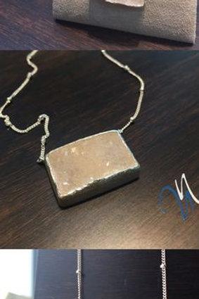 NINA NGUYEN Sterling Silver ZEN-NIRVANA White Druzy Pendant and Chain