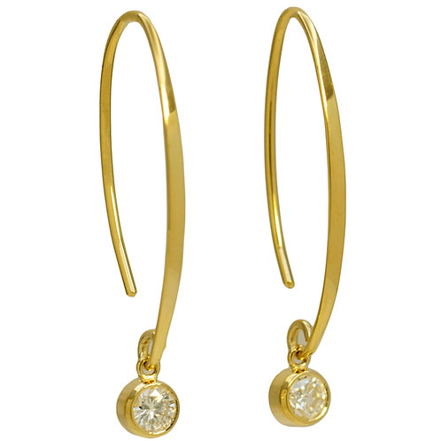DAVID CRANDALL Diamond Shooting Star Threader Earrings