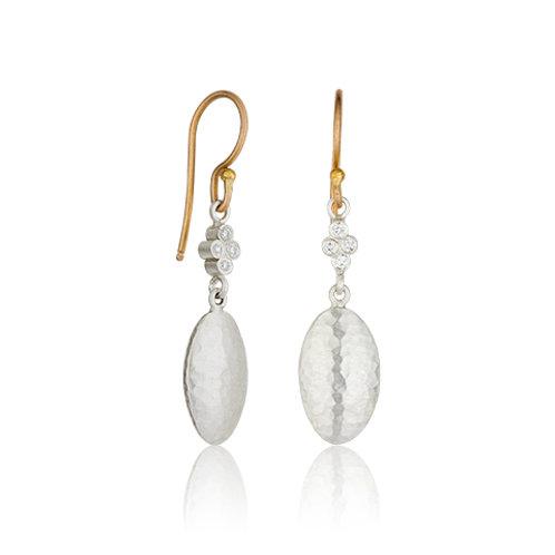 "LIKA BEHAR ""Kadiz"" Sterling & Diamond Earrings KAD-E-205-SILGD-5"