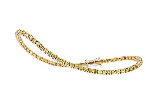FACET BARCELONA Yellow Diamond Tennis Bracelet