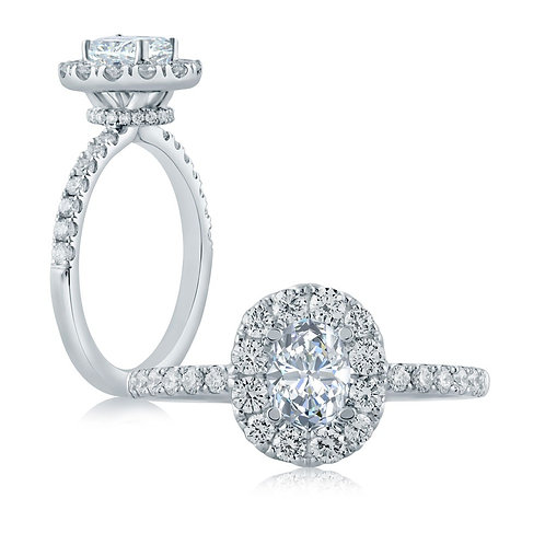 A. JAFFE Diamond Halo Engagement Ring BE1407OV/98