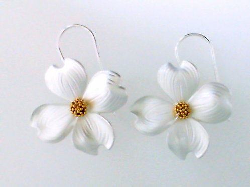 REBECCA HOOK Sterling Silver and Yellow Gold Vermeil Dogwood Earrings