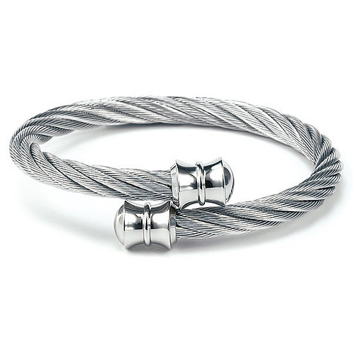 CHARRIOL Stainless Steel CELTIC 6mm Torqued Cable Bracelet