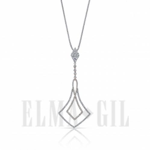 ELMA GIL Diamond Drop Pendant DP-122