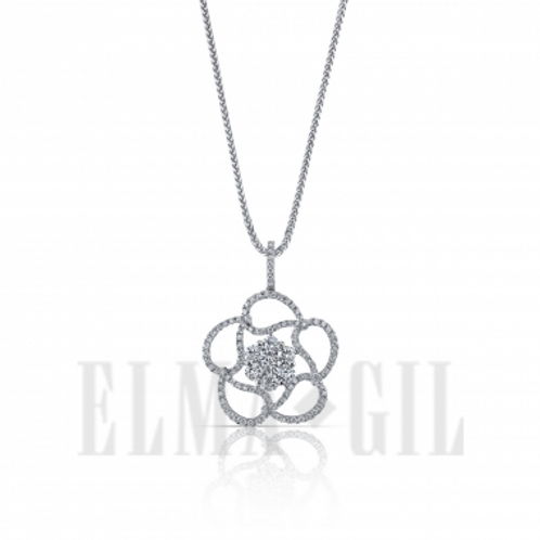 ELMA GIL Diamond Flower Pendant DP-165