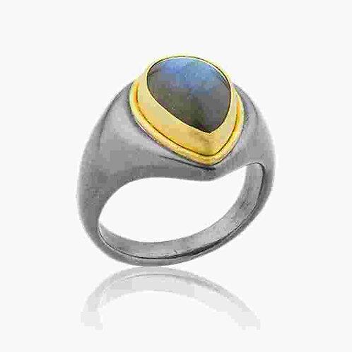 "LIKA BEHAR ""Parma"" Labradorite Ring PAR-R-141-GXLAB-3"