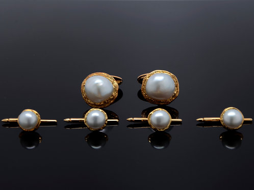 ESTATE Baroque South Sea Pearl Textured Tuxedo Set