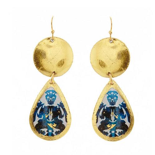 EVOCATEUR Rorschach Mini Teardrop Earrings