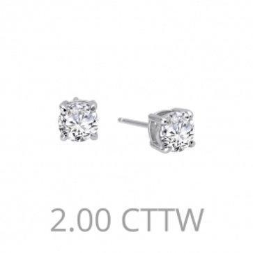 LAFONN Sterling Silver & 2.00tw Simulated Diamond Stud Earrings