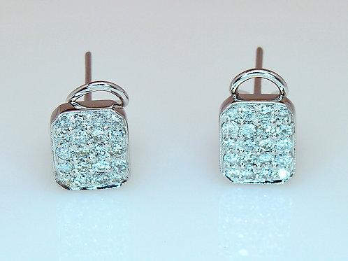 ESTATE Pave Diamond Stud Earrings