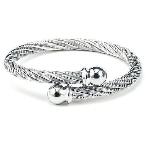 CHARRIOL Stainless Steel CELTIC 3mm Torqued Cable Bracelet