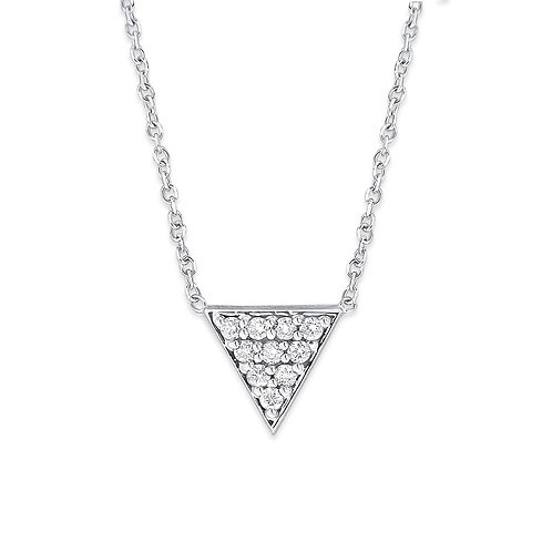 KC DESIGN Diamond Pyramid Necklace in Yellow 14K Gold