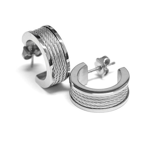 CHARRIOL Stainless Steel FOREVER Cable Earrings