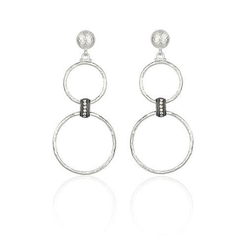 LIKA BEHAR Sterling & Diamond Bubble Dangle Earrings BUB-E-702-SILD