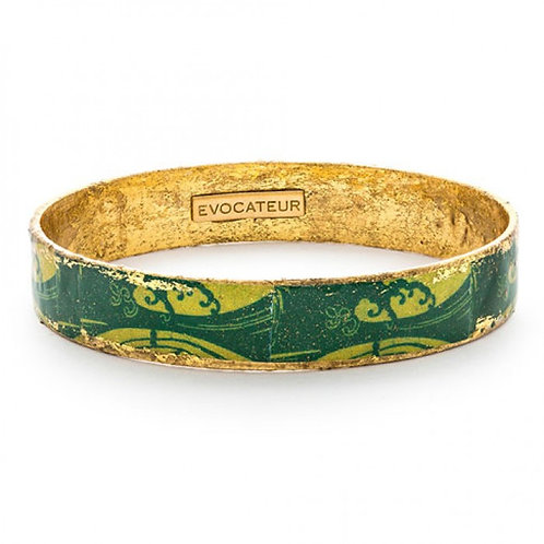 EVOCATEUR Green Wave Bangle